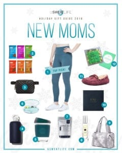 asweatlife gift guide for new moms