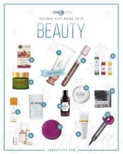 asweatlife beauty gift guide