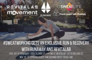 #Sweatworking + an Opening party for REVITALAB with RUNAWAY @ RUNAWAY