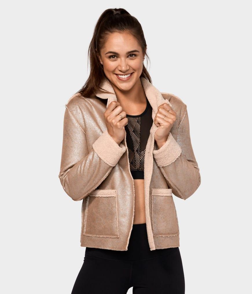 manduka shearling jacket