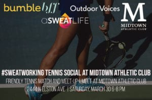 tennis Sweatworking at Midtown Athletic Club