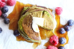 spinach blender pancakes