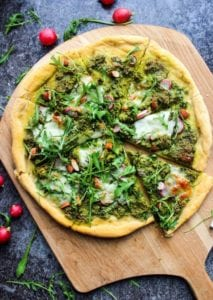 super green kale pesto pizza