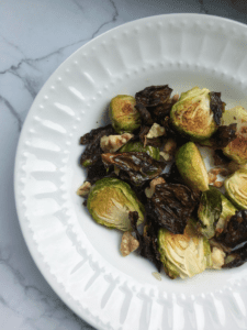 roasted brussels sprouts with toasted walnuts recipe