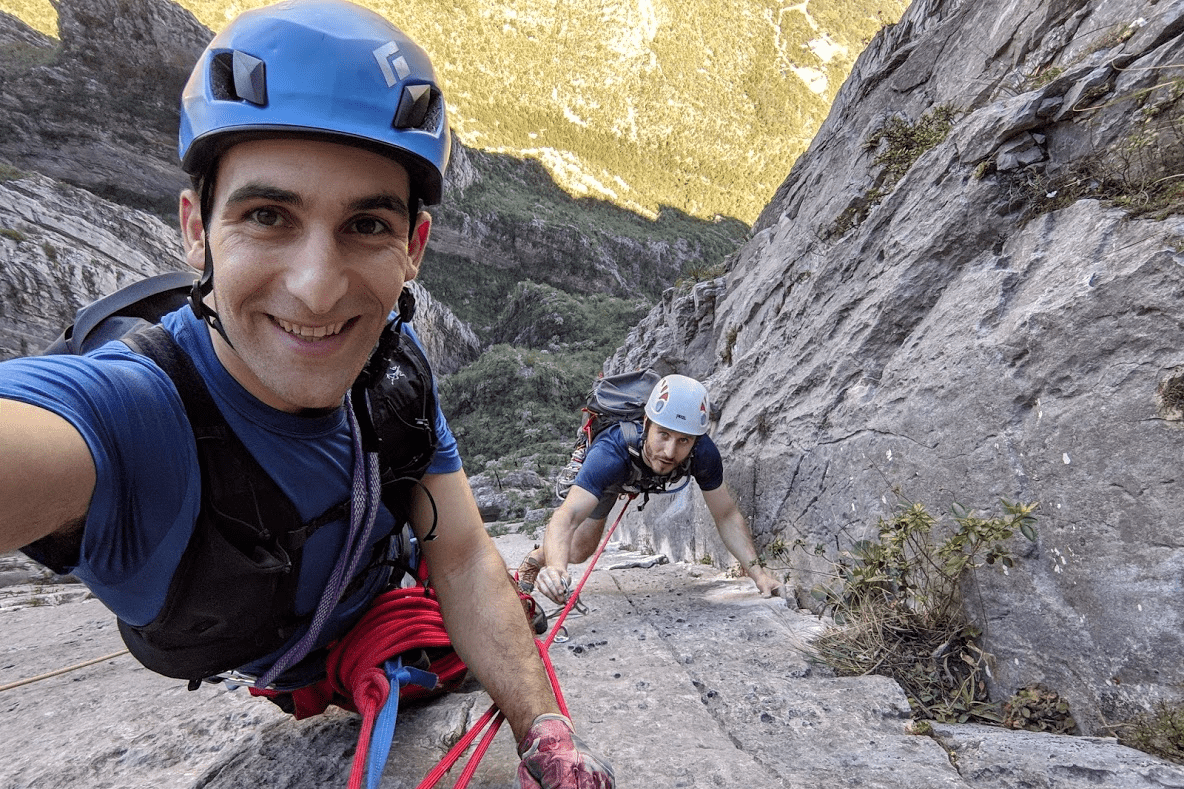 dan meer rock climbing
