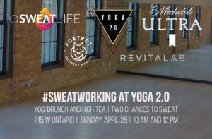 #Sweatworking at Yoga 2.0
