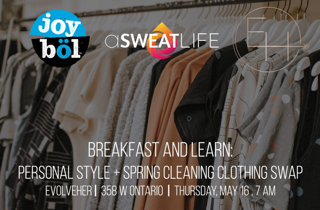 breakfast and learning clothing swap personal style
