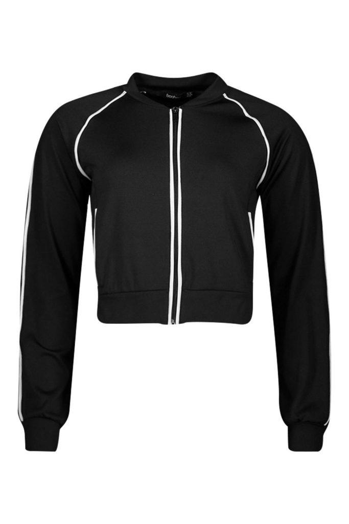 boohoo fit reflective binding jacket