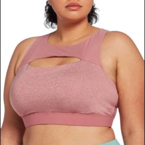 calia women's plus size peek-a-boo swim top