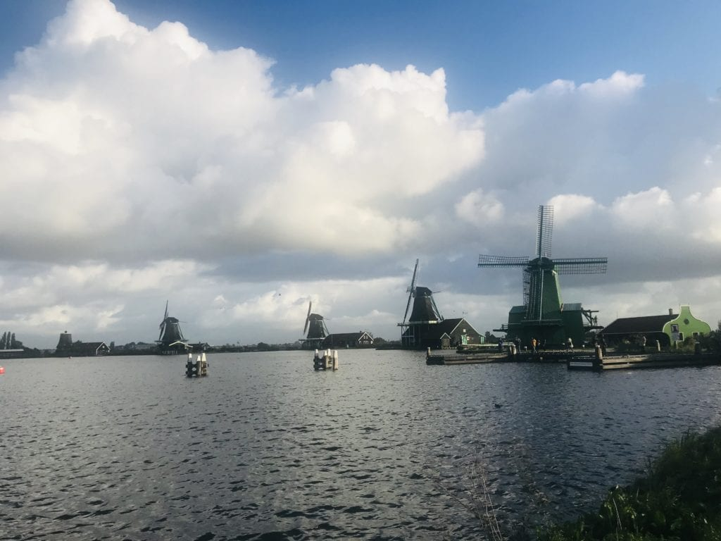 windmills and a workout in amsterdam
