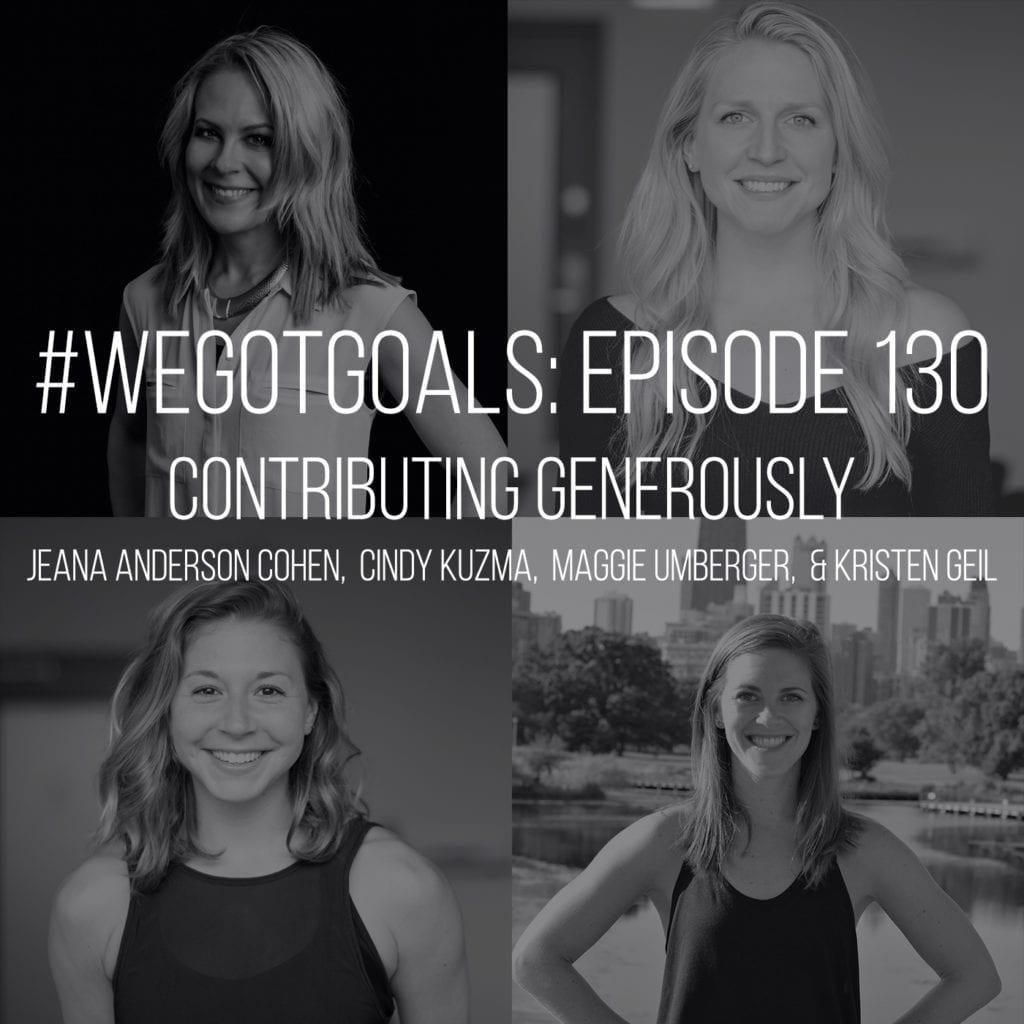 we got goals contributing generously