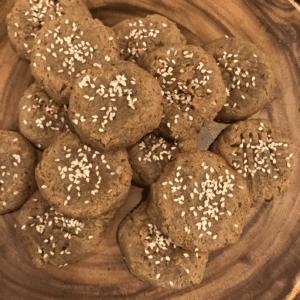 four ingredient tahini cookies