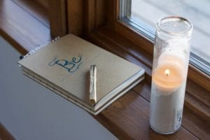 Redefining you - Notebook and Candle