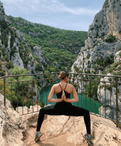 Paige Willis yoga pose