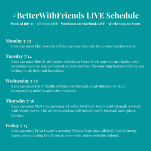 Digital schedule week 18
