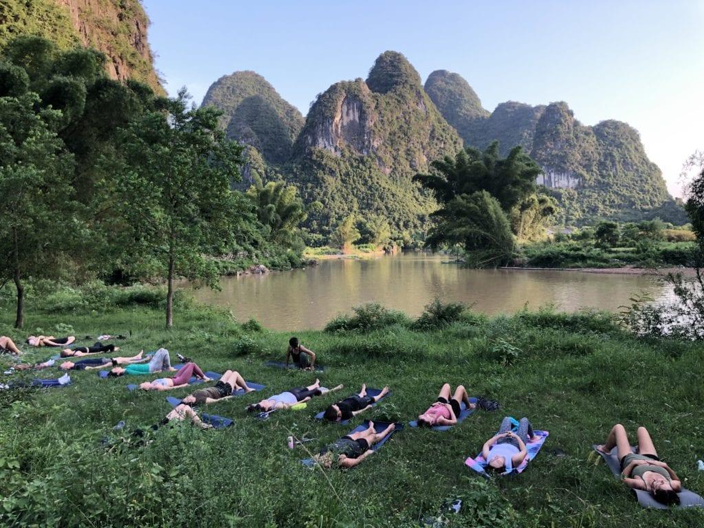 yoga in yangshuo