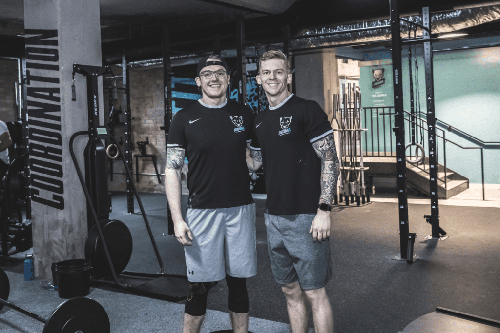 JagFit Founders Adam Powles, left, and Matt Powles, right