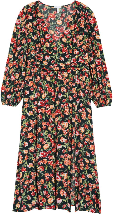 floral print long sleeve dress by leith