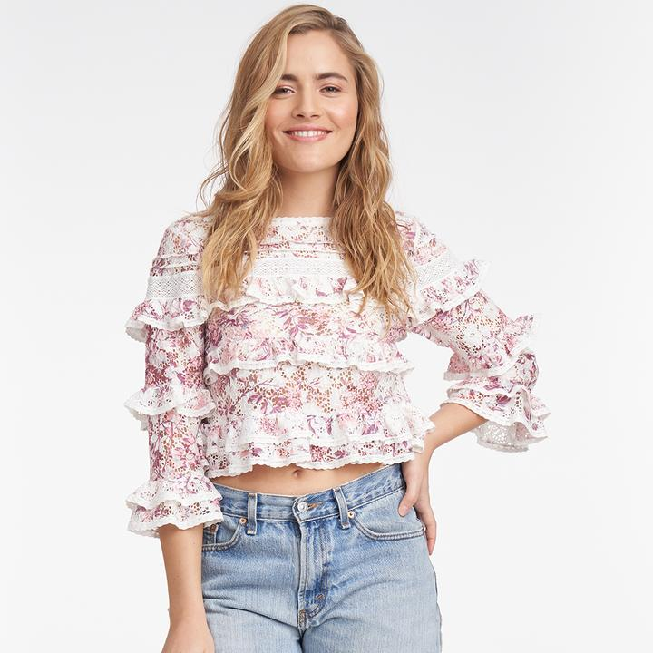 Shabby Chic Clothing Beatrix Tiered Lace Top