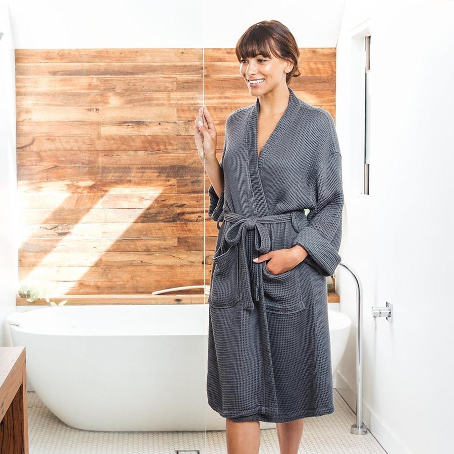 goldune bamboo waffle robe