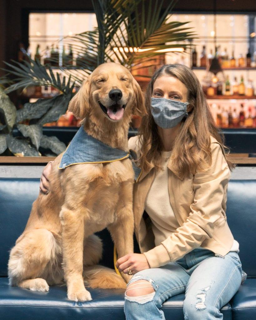 The Foggy Dog mask and bandana set