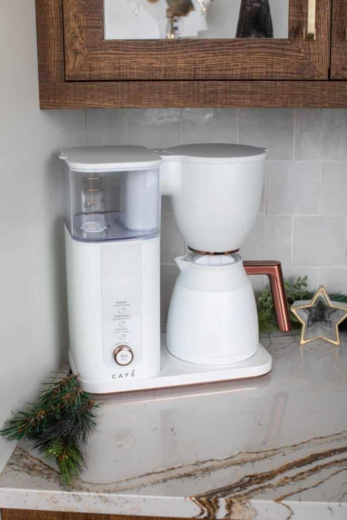matte white cafe speciality drip coffee brewer