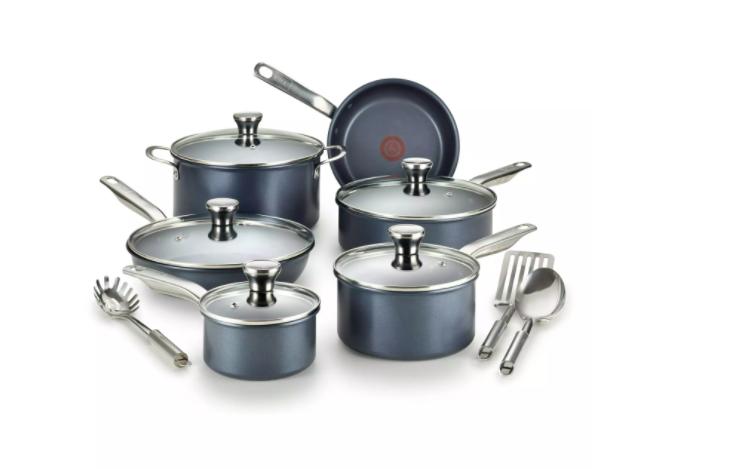 t-fal non stick pans set